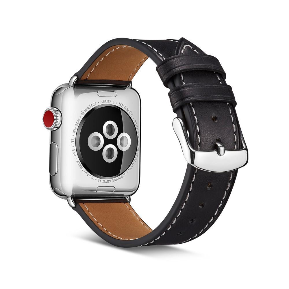 Lærarmbånd Apple Watch 42/44/45 mm svart