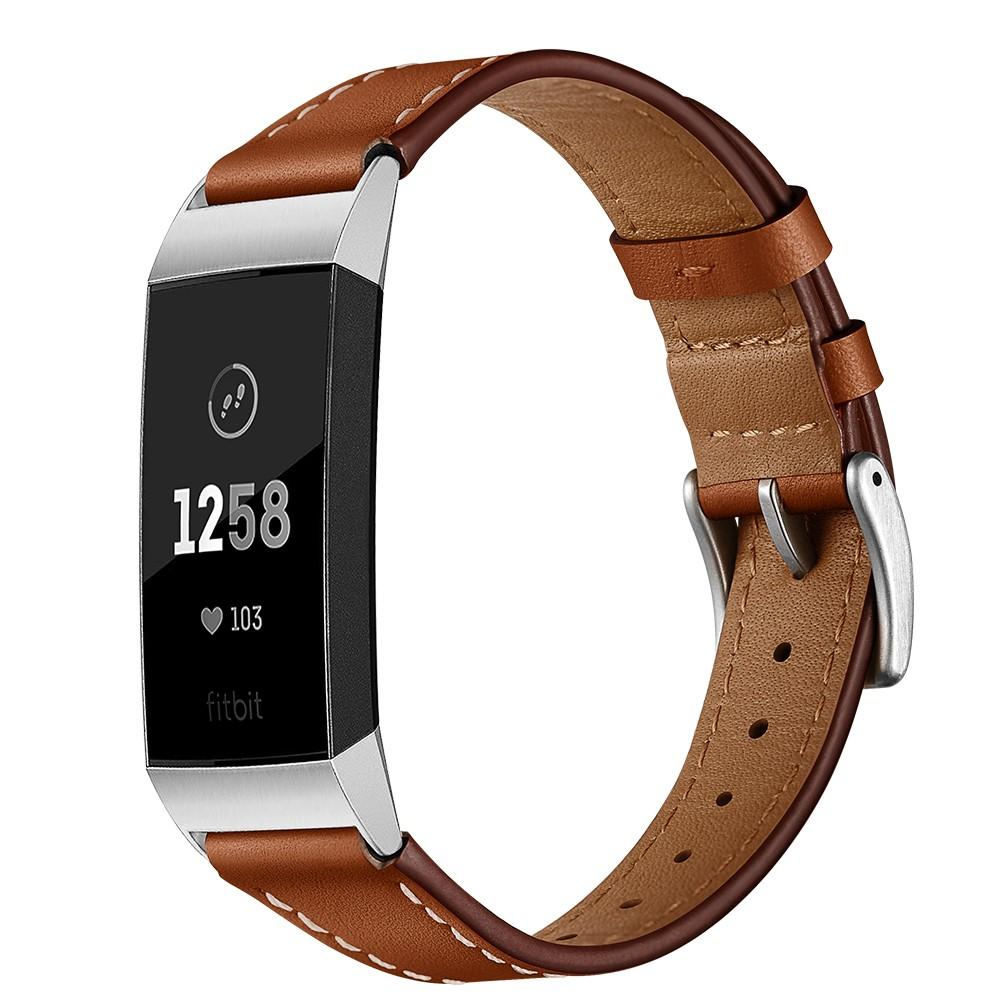 Lærarmbånd Fitbit Charge 3/4 brun