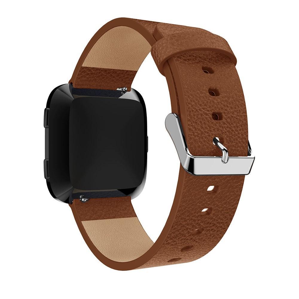 Lærarmbånd Fitbit Versa/Versa 2 brun