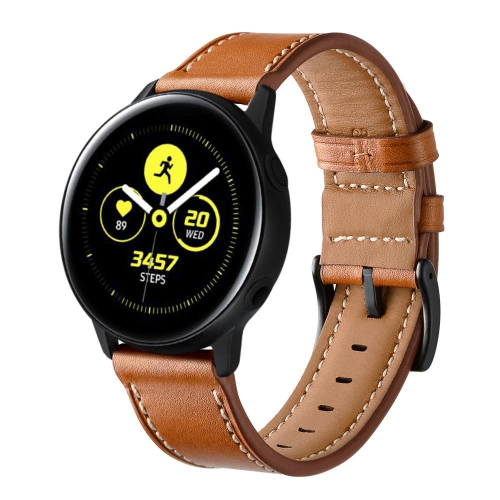 Lærarmbånd Galaxy Watch Active/42mm brun