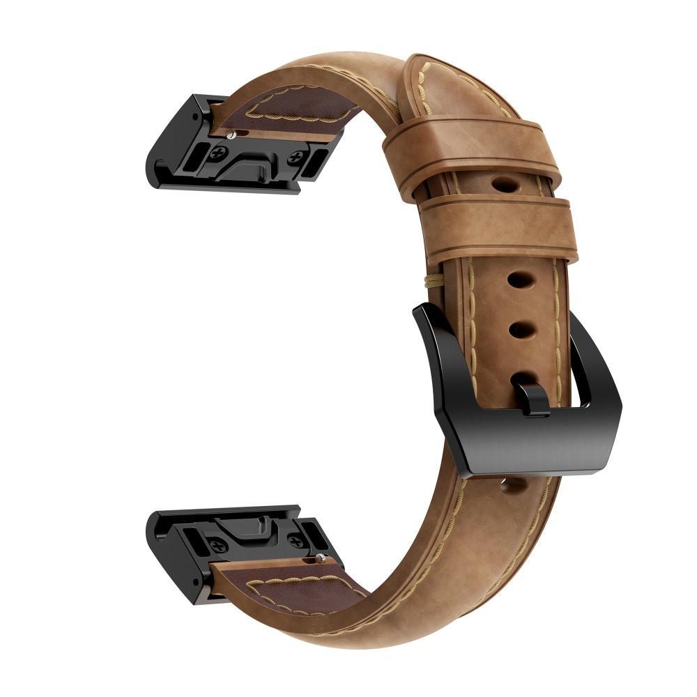 Lærarmbånd Garmin Fenix 5X/5X Plus/6X/6X Pro brun