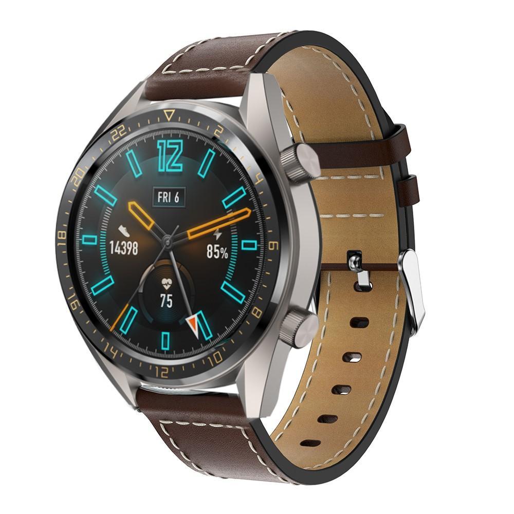 Lærarmbånd Huawei Watch GT/GT 2 46mm/GT 2e brun