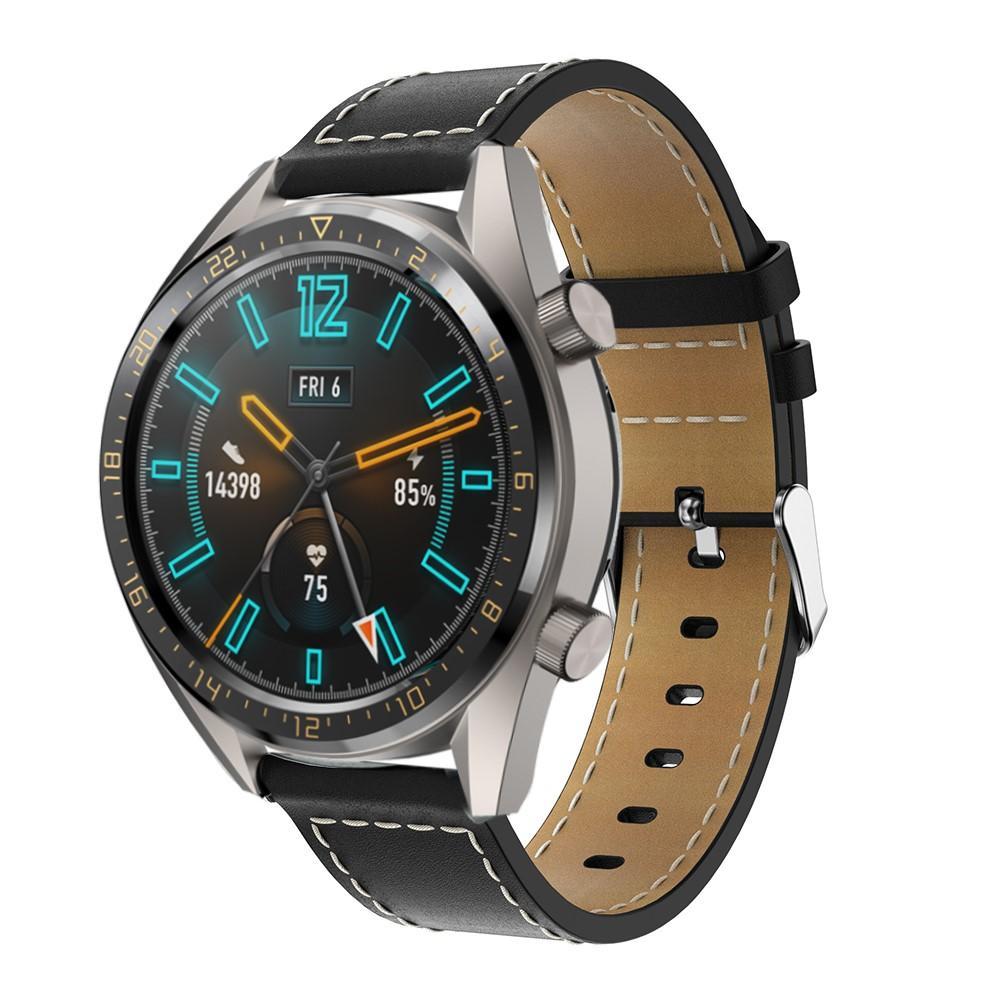 Lærarmbånd Huawei Watch GT/GT 2 46mm/GT 2e svart