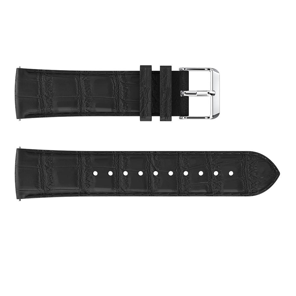 Lærarmbånd Krokodille Fitbit Versa/Versa 2 svart