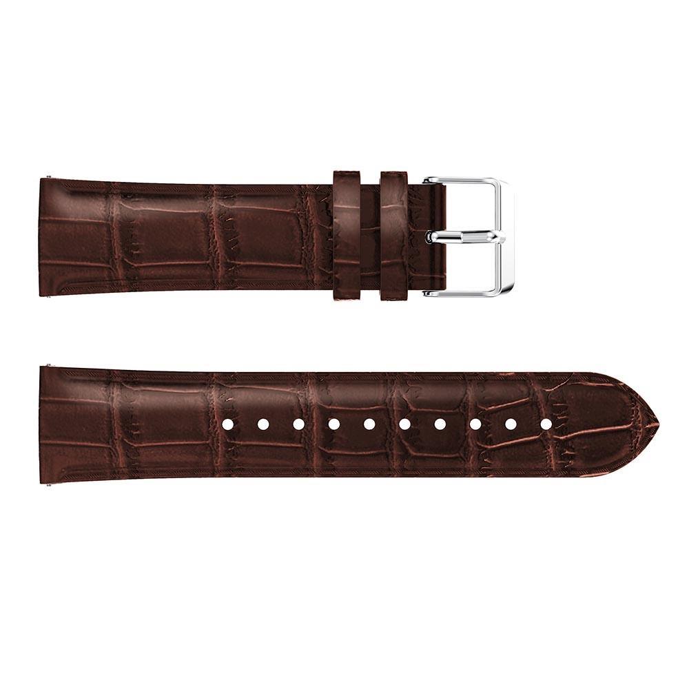 Lærarmbånd Krokodille Galaxy Watch 42mm brun
