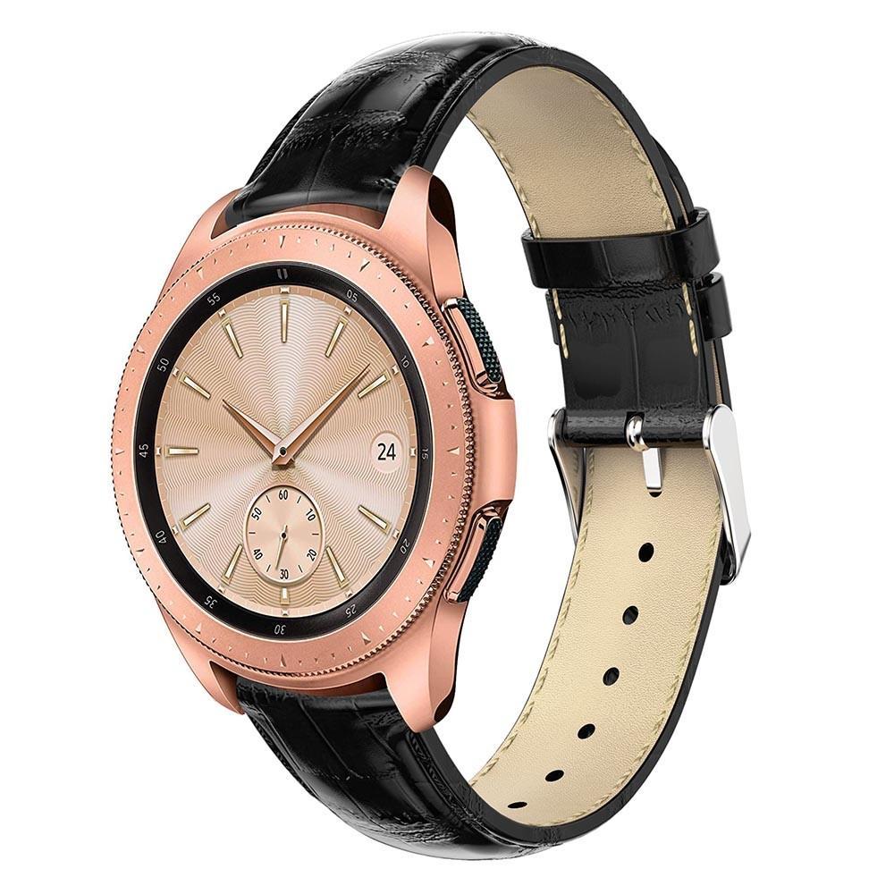 Lærarmbånd Krokodille Galaxy Watch 42mm svart