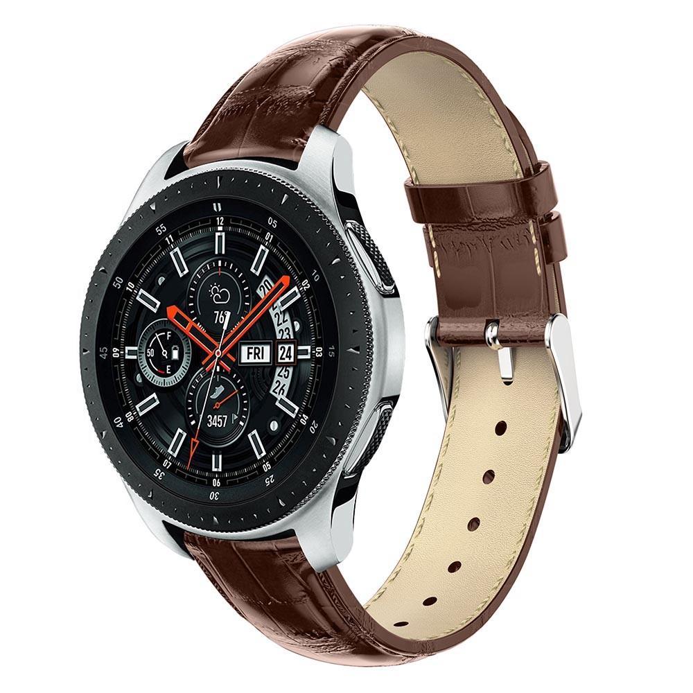 Lærarmbånd Krokodille Galaxy Watch 46mm brun