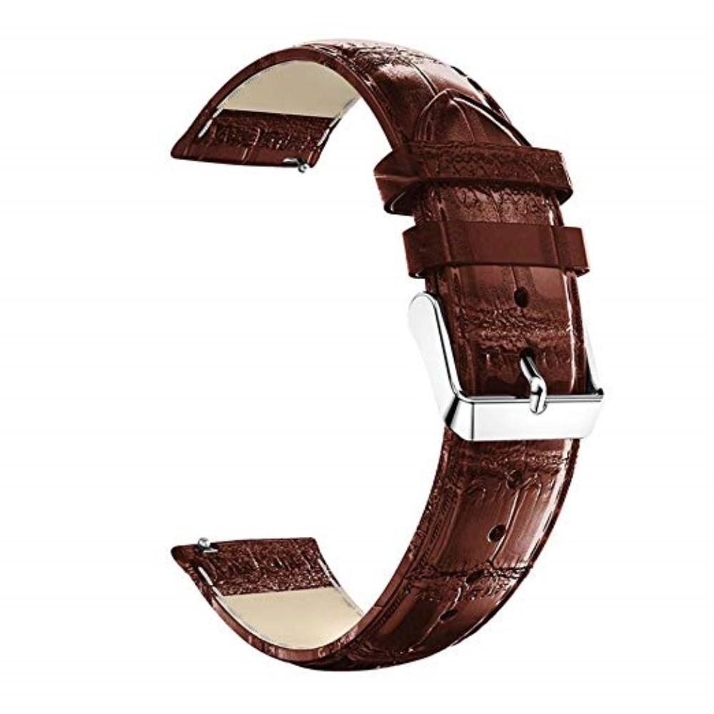 Lærarmbånd Krokodille Huawei Watch GT/GT 2 46mm/GT 2e brun