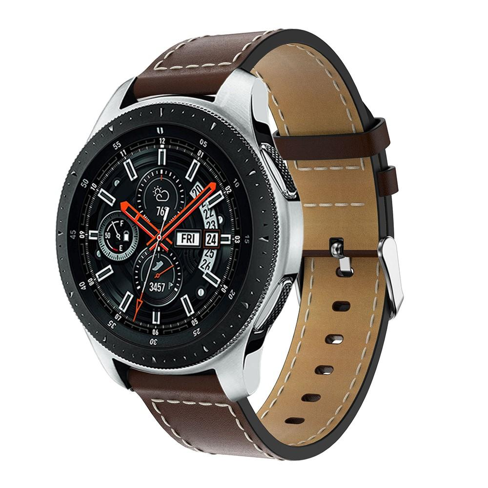 Lærarmbånd Samsung Galaxy Watch 46mm brun
