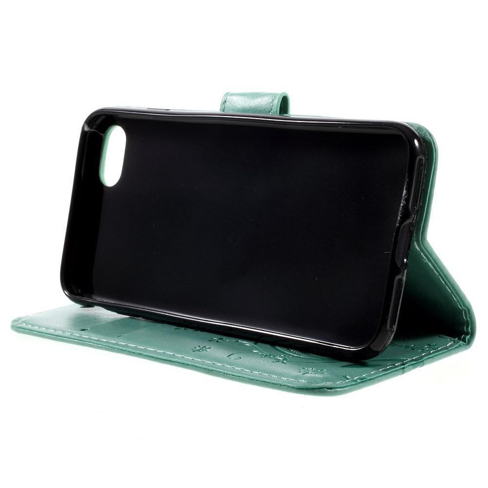 Lærveske Sommerfugler iPhone 7/8/SE 2020 grønn