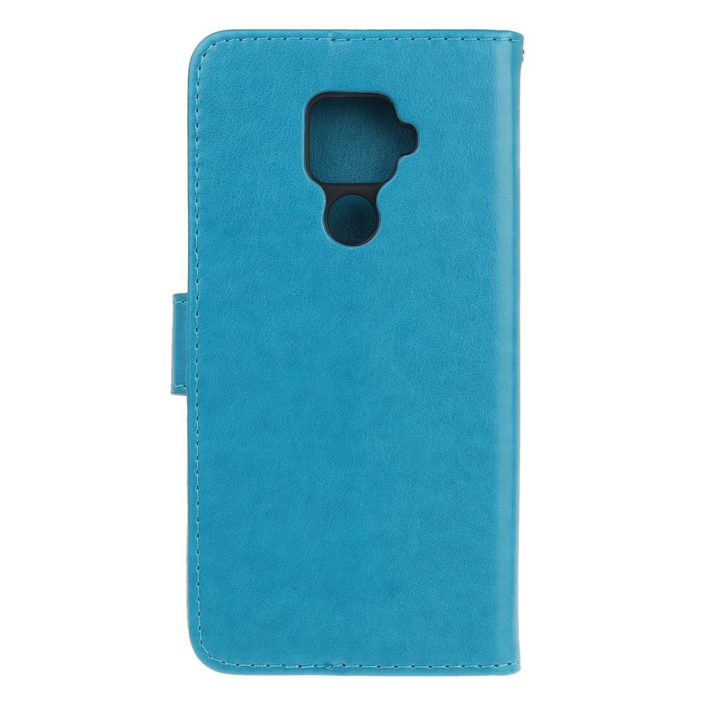 Lærveske Sommerfugler Huawei Mate 30 Lite blå