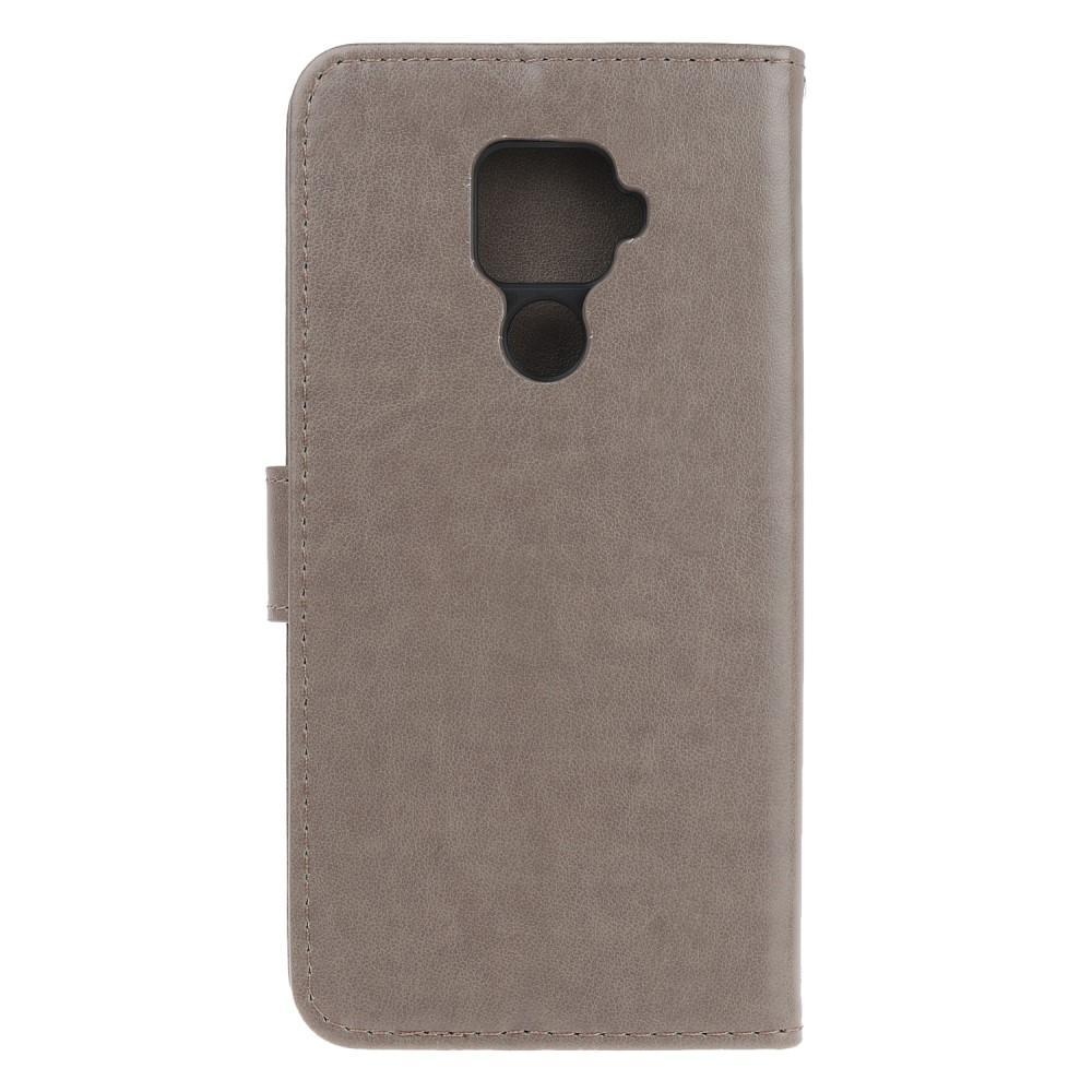 Lærveske Sommerfugler Huawei Mate 30 Lite grå