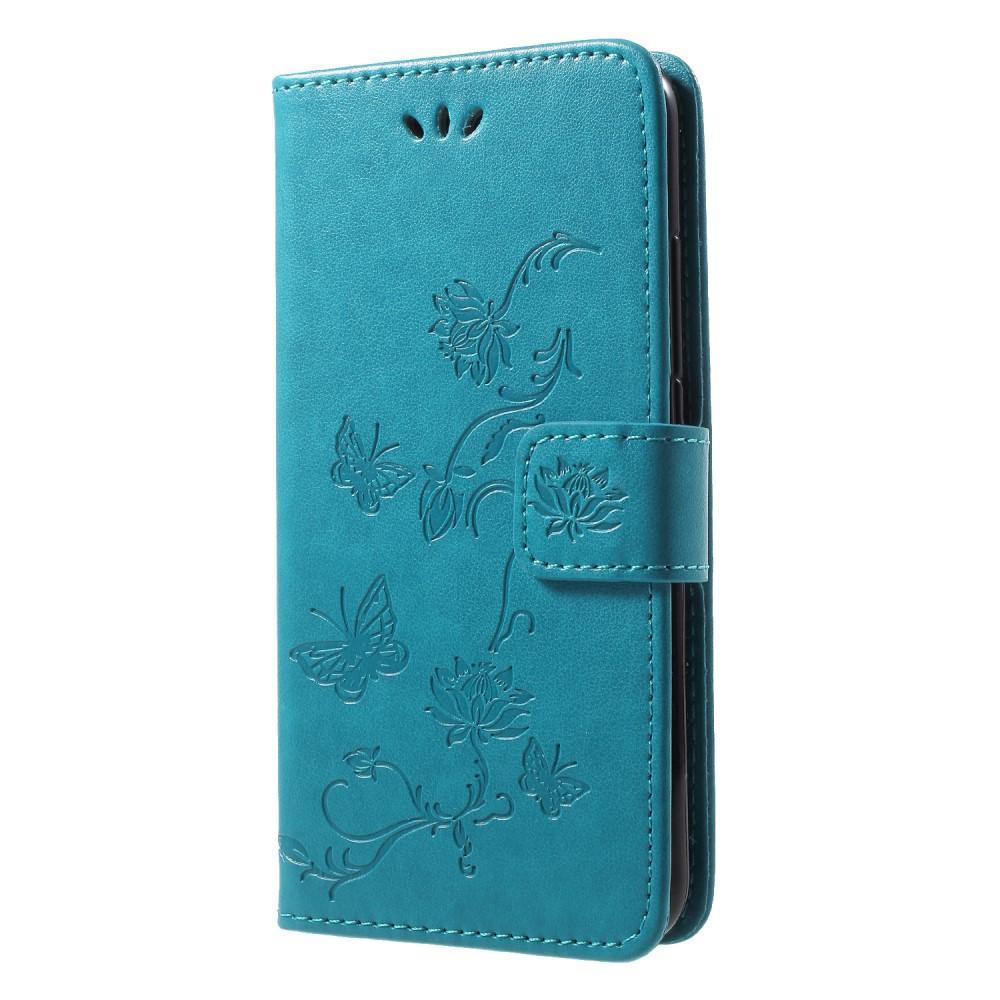 Lærveske Sommerfugler Huawei P20 Lite blå