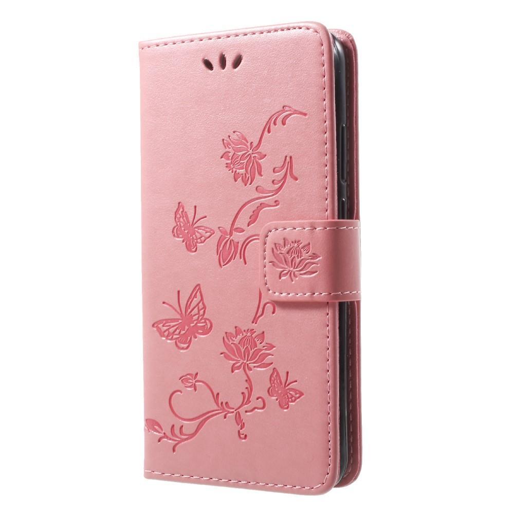 Lærveske Sommerfugler Huawei P20 Lite rosa