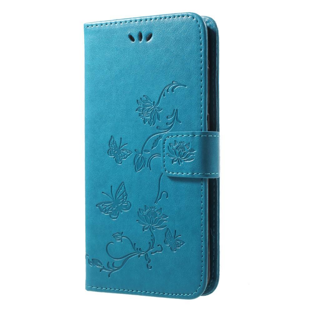 Lærveske Sommerfugler Huawei P20 Pro blå