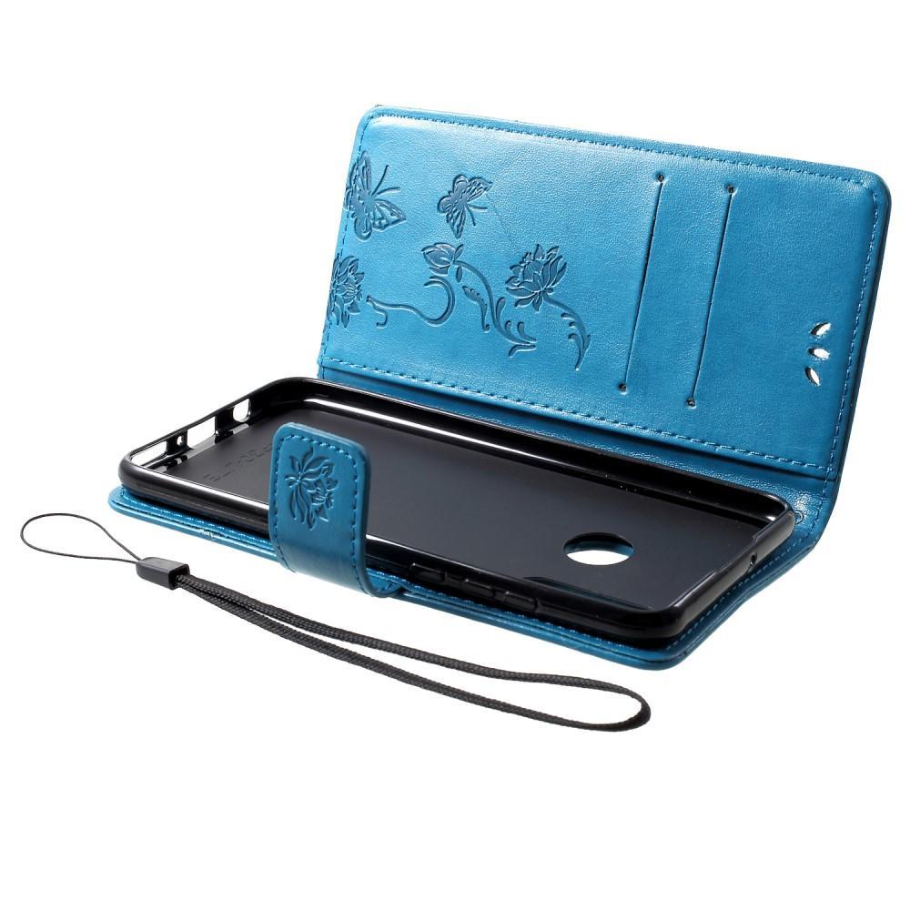 Lærveske Sommerfugler Huawei P30 Lite blå