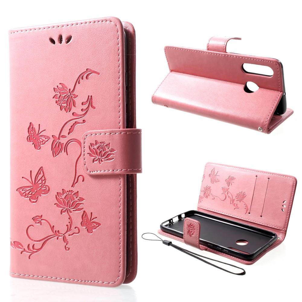 Lærveske Sommerfugler Huawei P30 Lite rosa