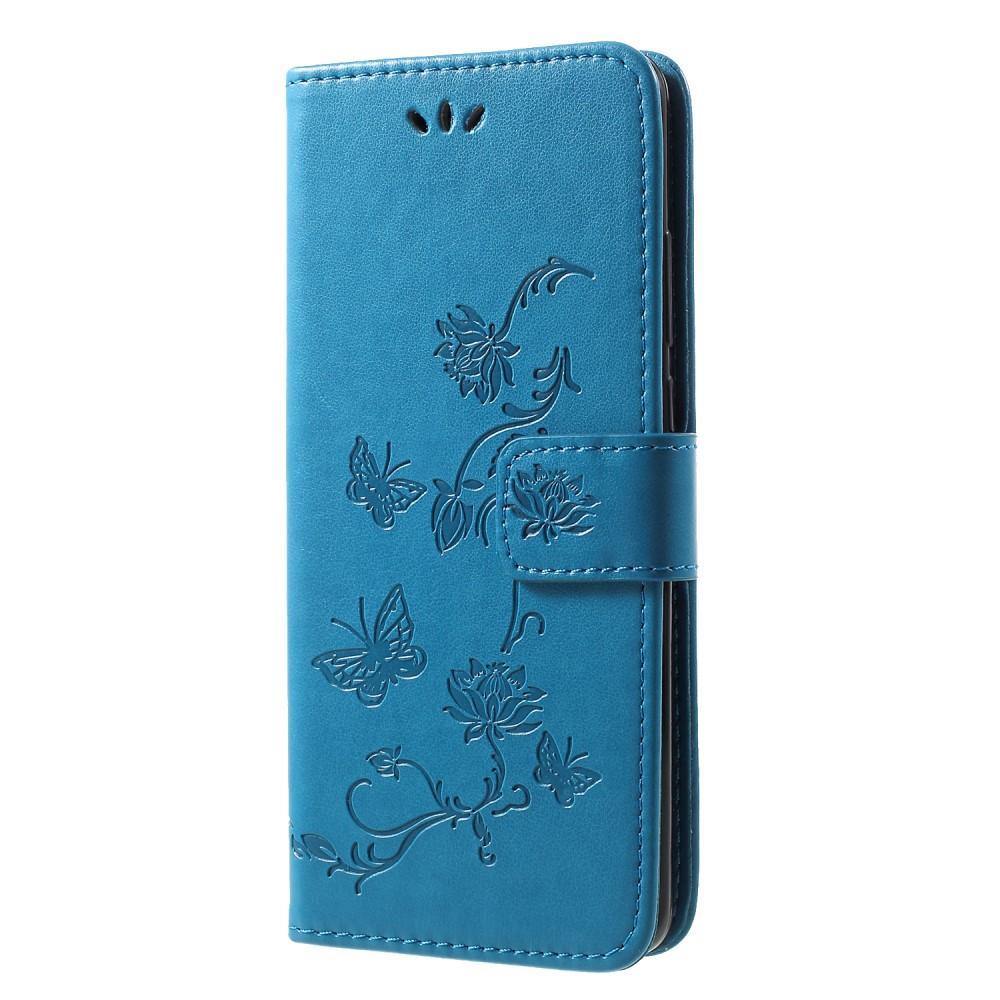 Lærveske Sommerfugler Huawei P30 Pro blå
