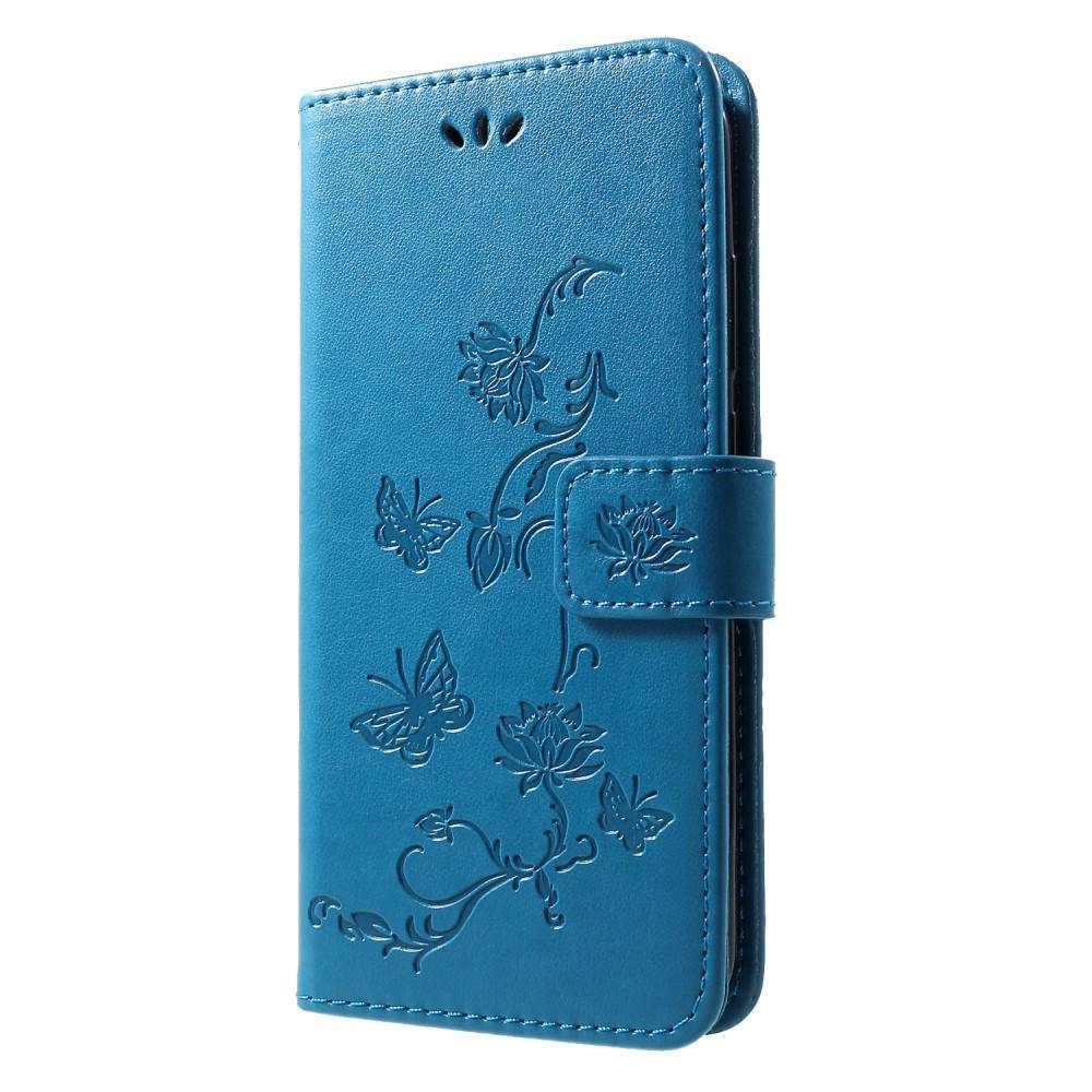 Lærveske Sommerfugler Huawei P Smart 2019 blå