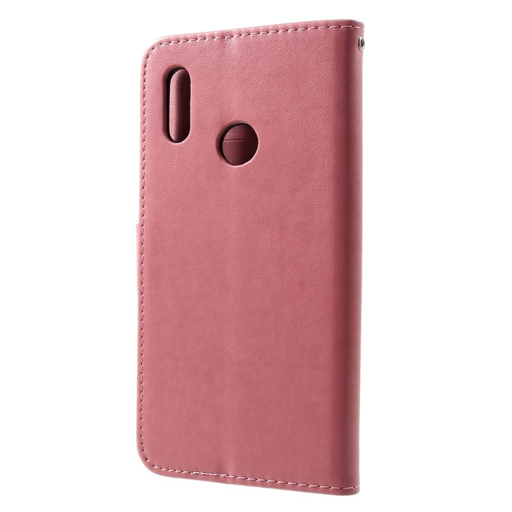 Lærveske Sommerfugler Huawei P Smart 2019 rosa