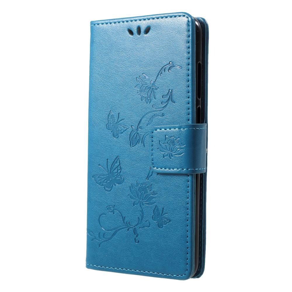 Lærveske Sommerfugler Huawei Y6 2018 blå