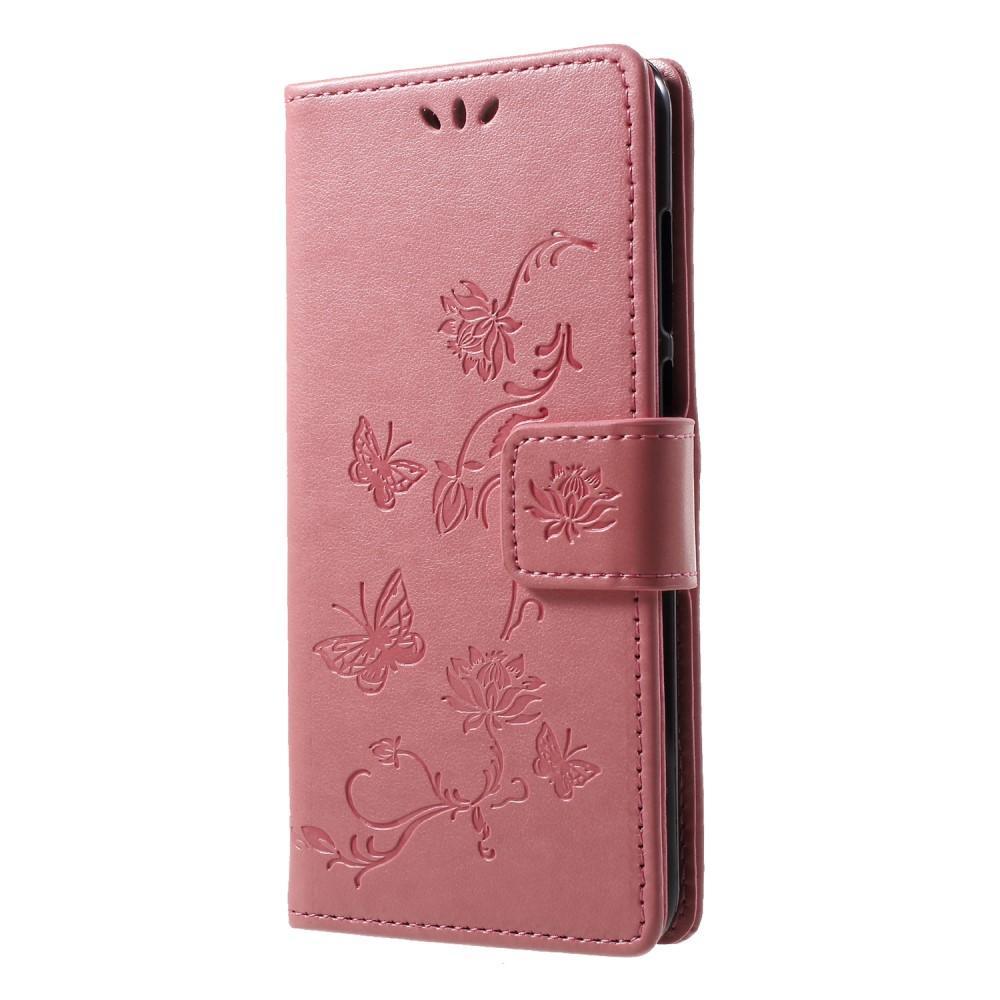 Lærveske Sommerfugler Huawei Y6 2018 rosa