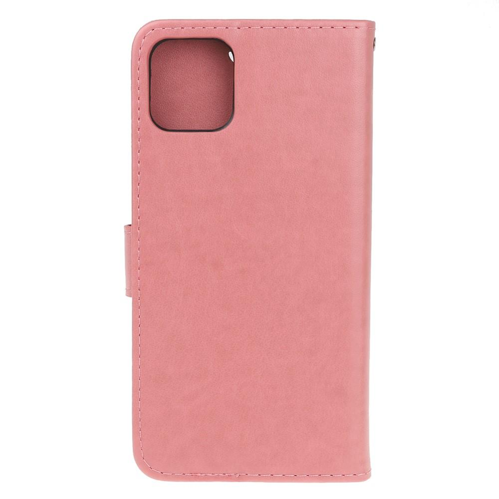 Lærveske Sommerfugler iPhone 11 Pro rosa