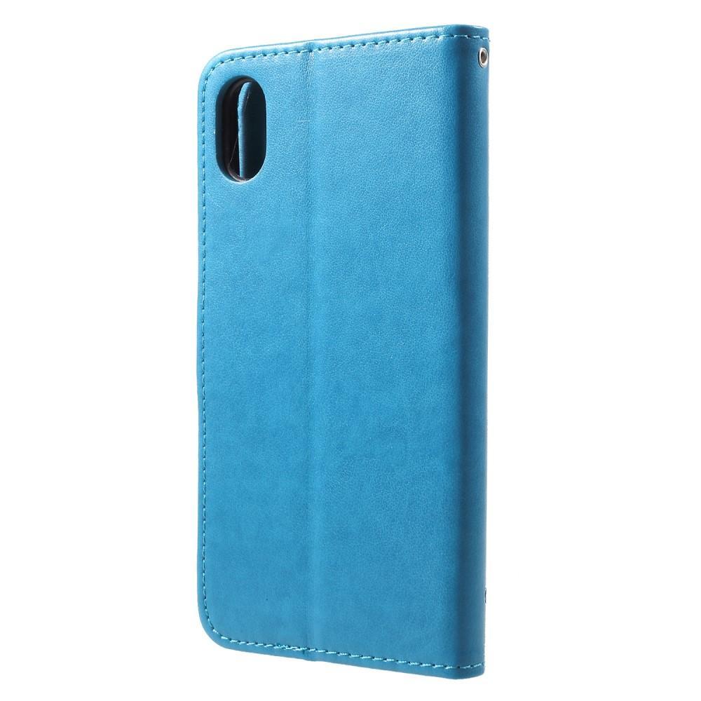 Lærveske Sommerfugler iPhone XR blå