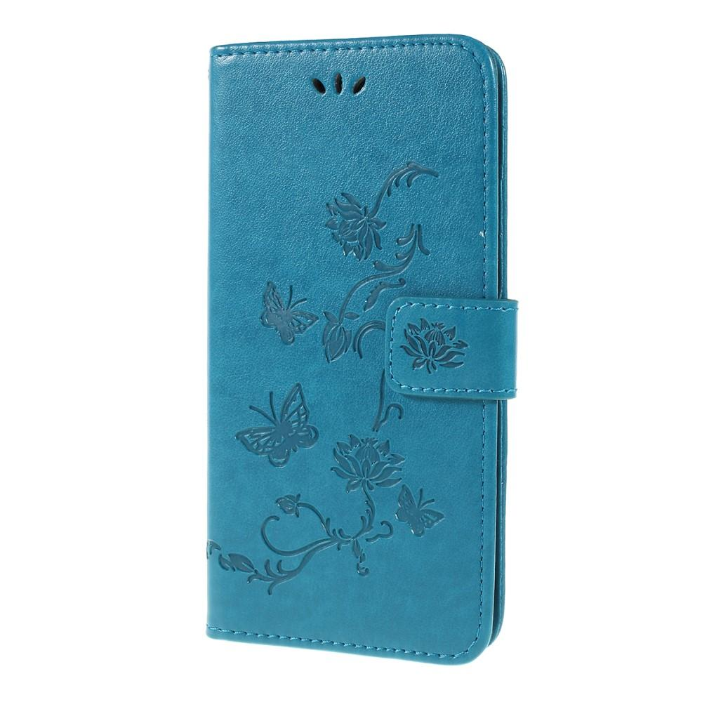 Lærveske Sommerfugler Samsung Galaxy A10 blå