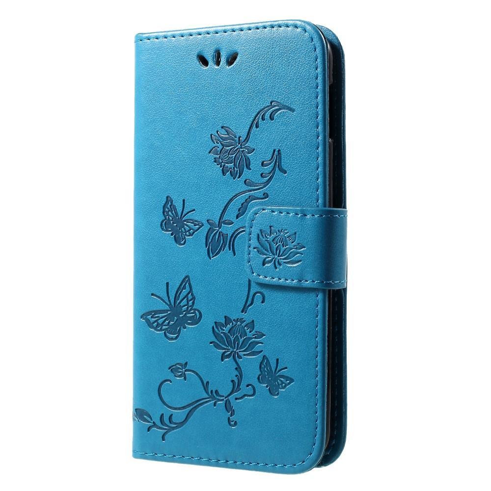 Lærveske Sommerfugler Samsung Galaxy S10e blå