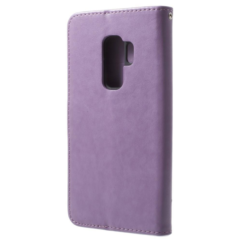 Lærveske Sommerfugler Samsung Galaxy S9 Plus lilla