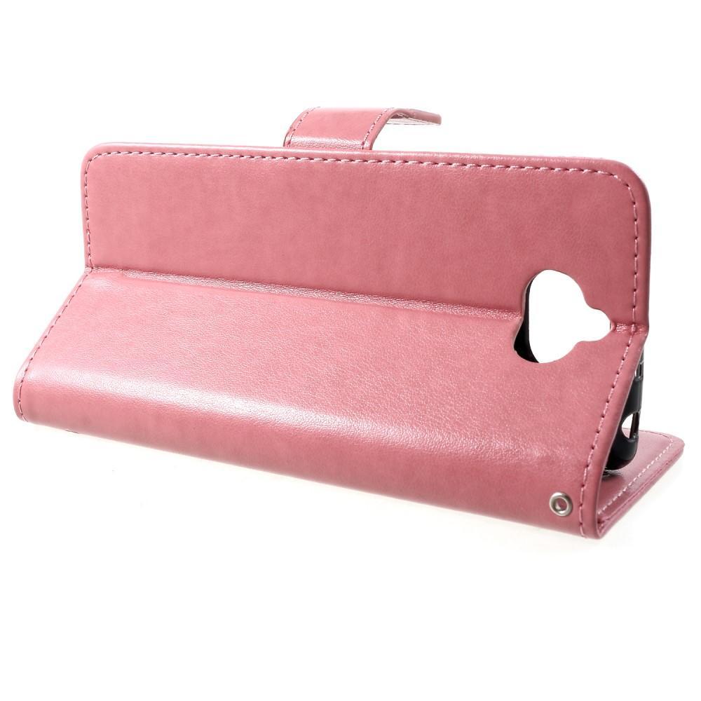 Lærveske Sommerfugler Sony Xperia 10 rosa