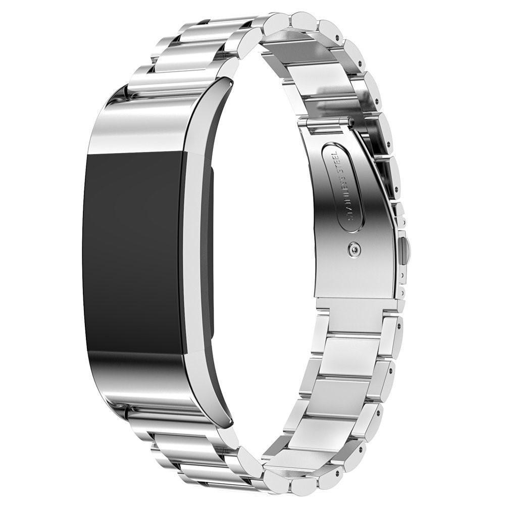 Metallarmbånd Fitbit Charge 2 sølv