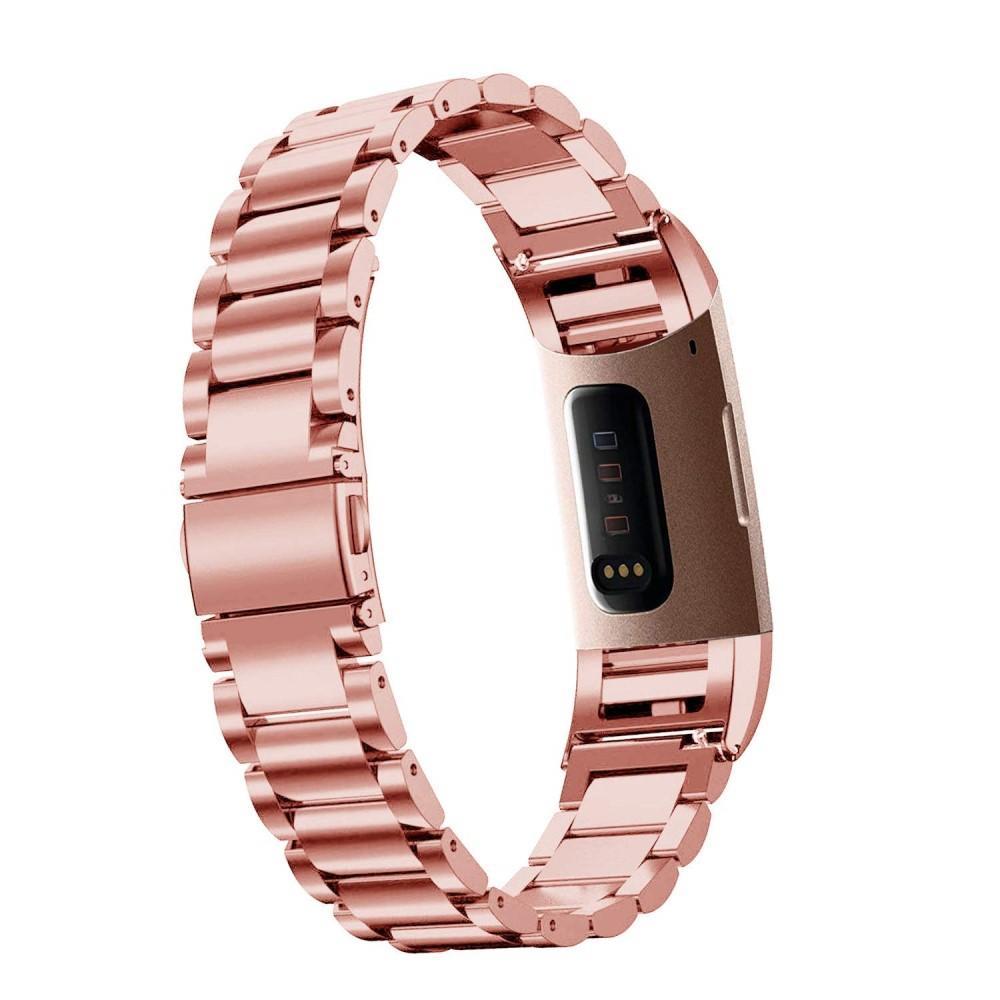 Metallarmbånd Fitbit Charge 3/4 rosegull