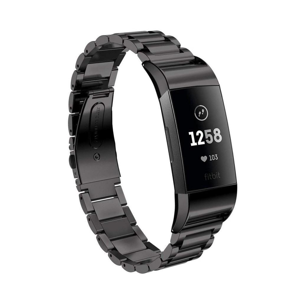 Metallarmbånd Fitbit Charge 3/4 svart