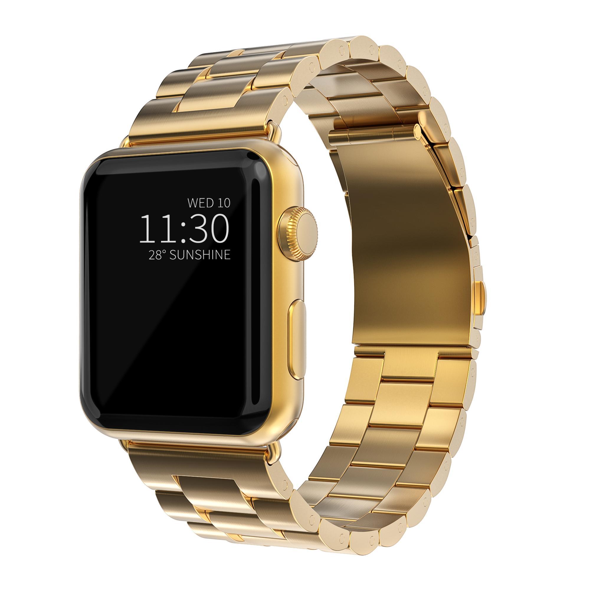 Metallarmbånd Apple Watch 42/44/45 mm gull