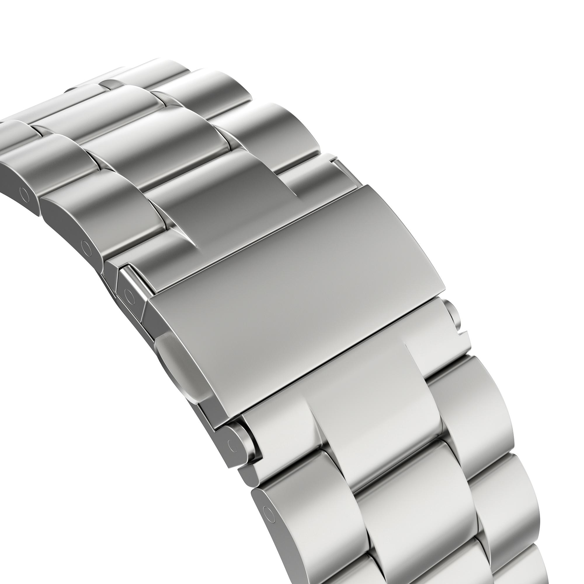 Metallarmbånd Apple Watch 42/44/45 mm sølv