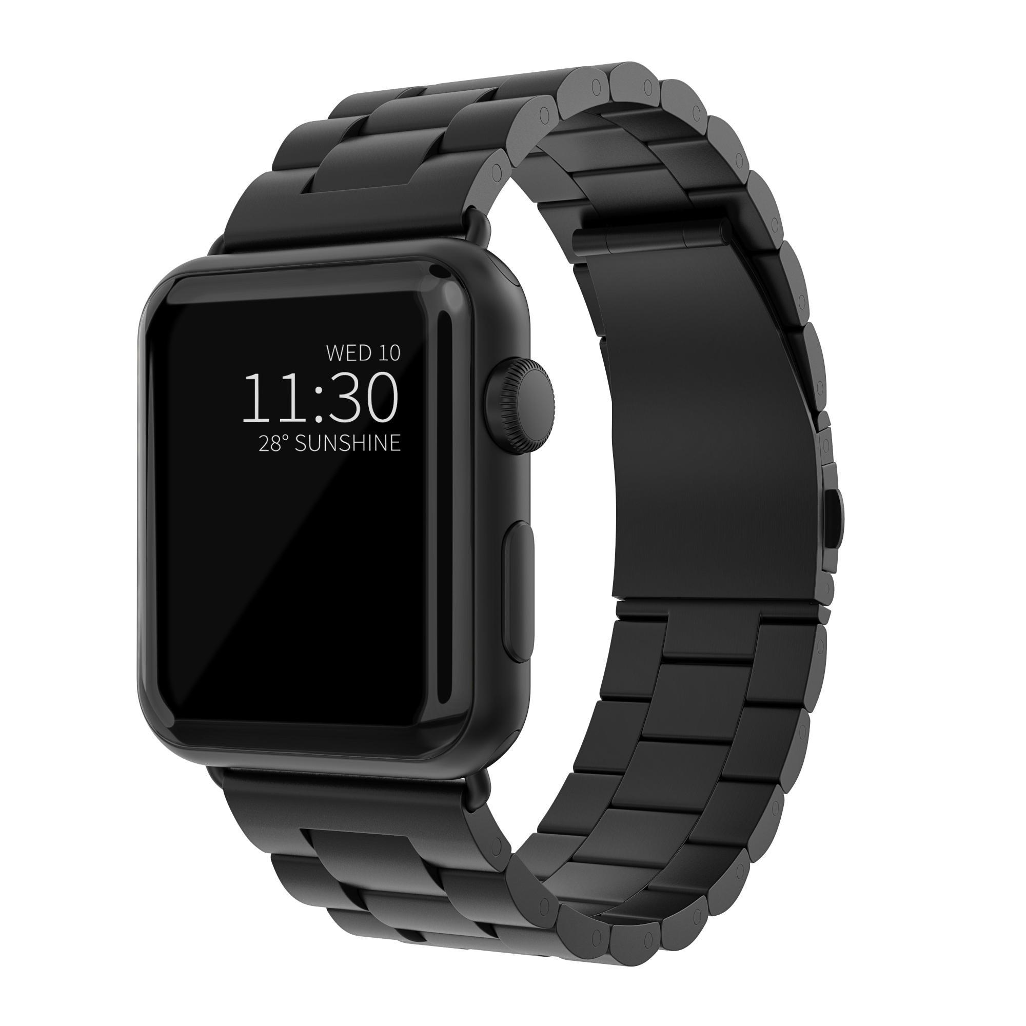 Metallarmbånd Apple Watch 42/44/45 mm svart