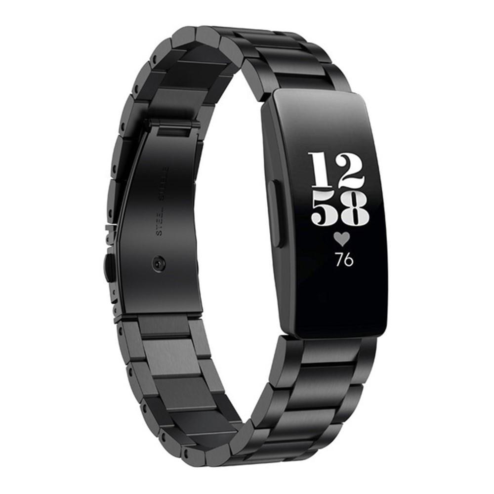 Metallarmbånd Fitbit Inspire/Inspire HR/Inspire 2 svart