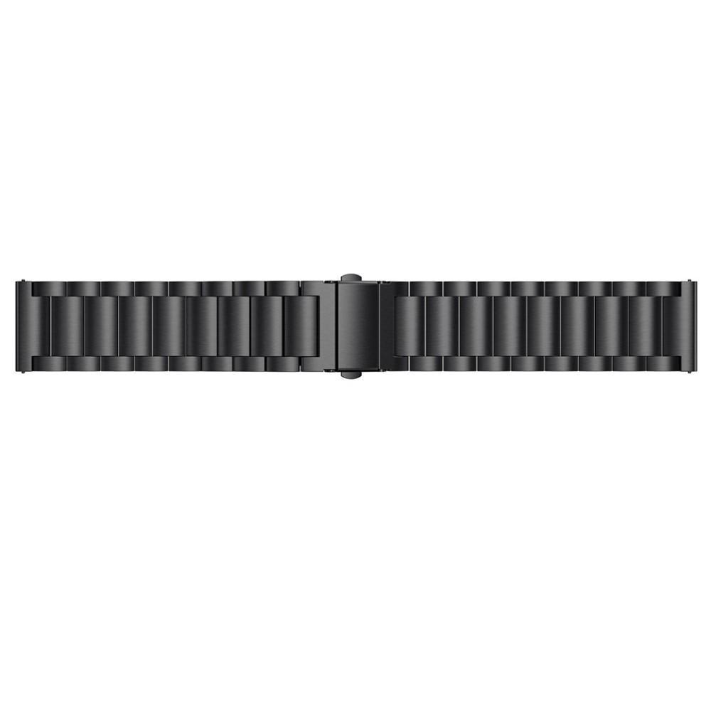 Metallarmbånd Fitbit Versa/Versa Lite/Versa 2 svart