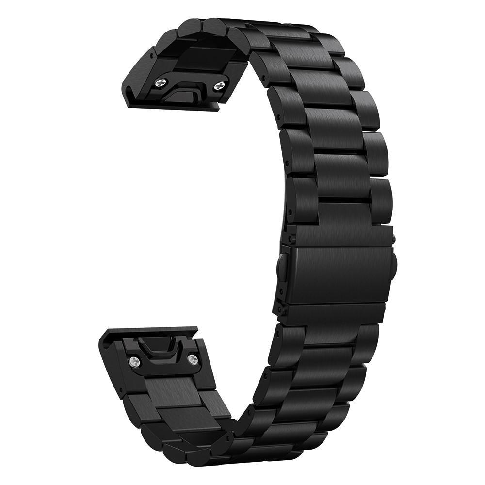 Metallarmbånd Garmin Fenix 5/5 Plus/Forerunner 935/945 svart