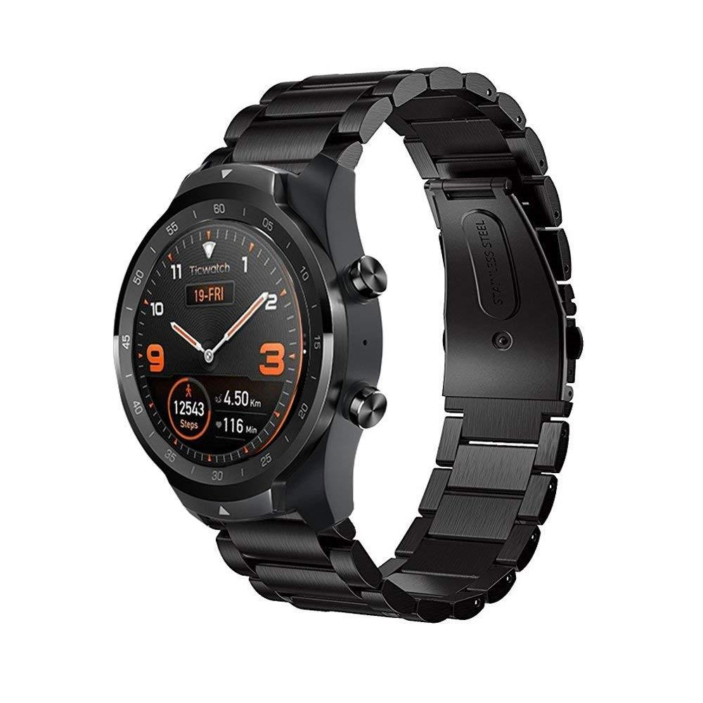 Metallarmbånd Mobvoi Ticwatch Pro/S2/E2 svart