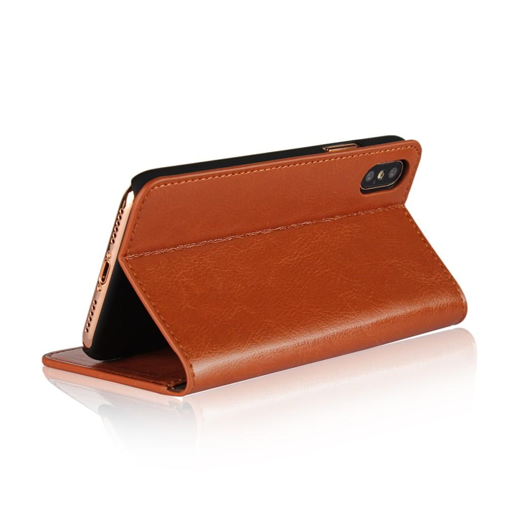 Mobiletui Ekte Lær iPhone X/XS brun