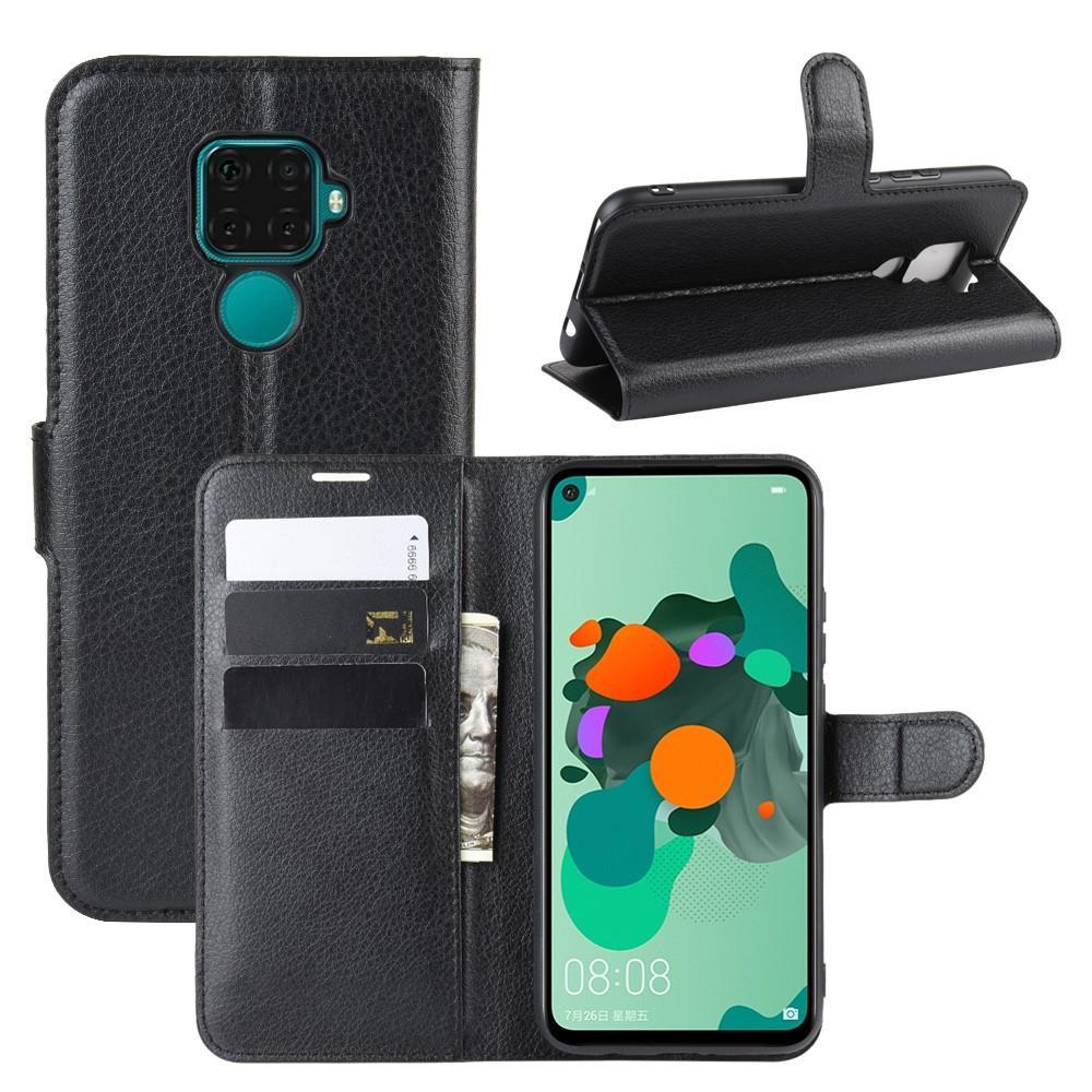 Mobilveske Huawei Mate 30 Lite svart