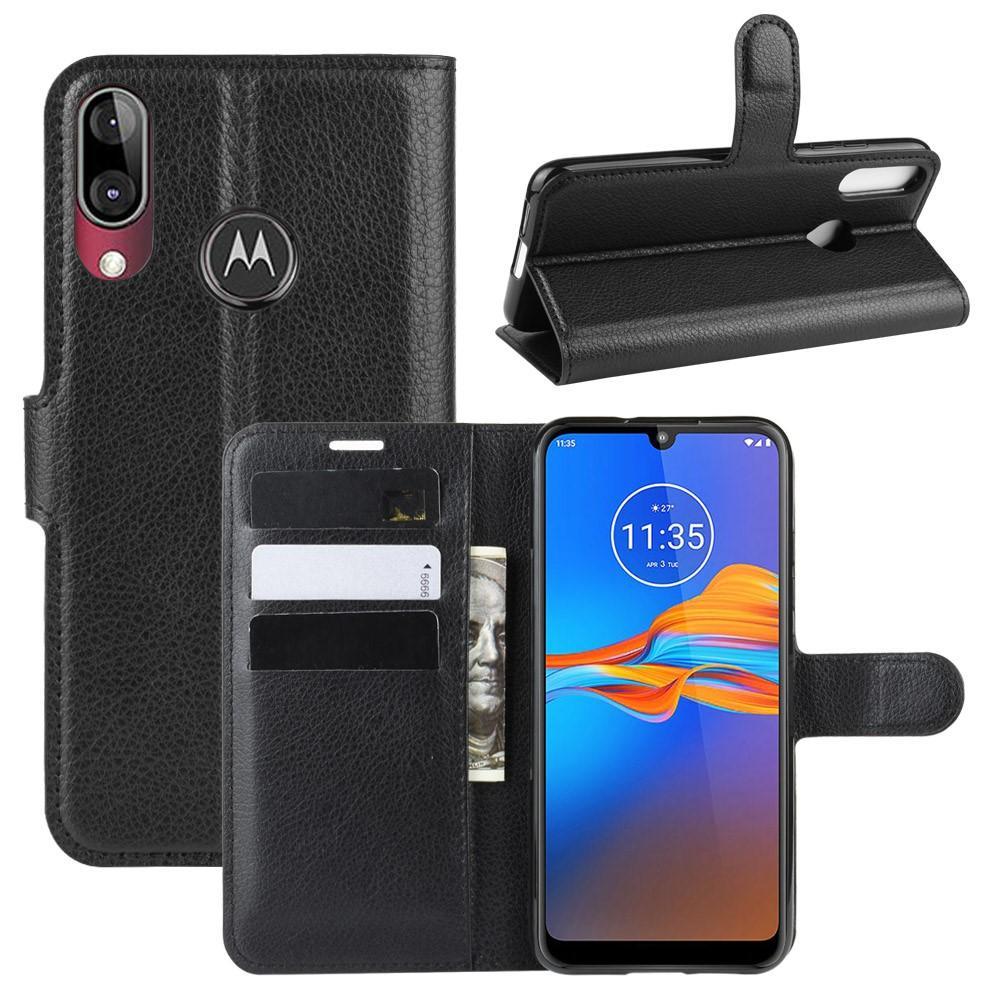 Mobilveske Motorola Moto E6 Plus svart