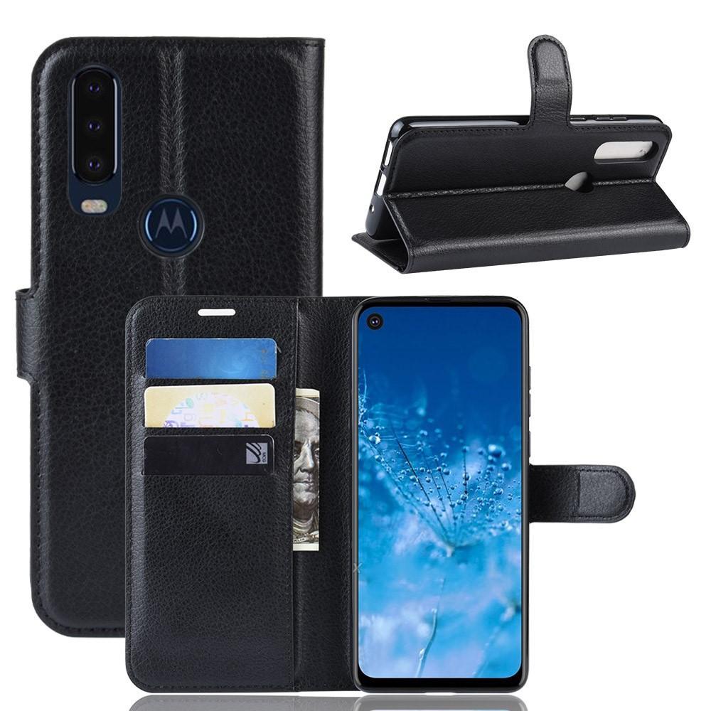 Mobilveske Motorola One Action svart