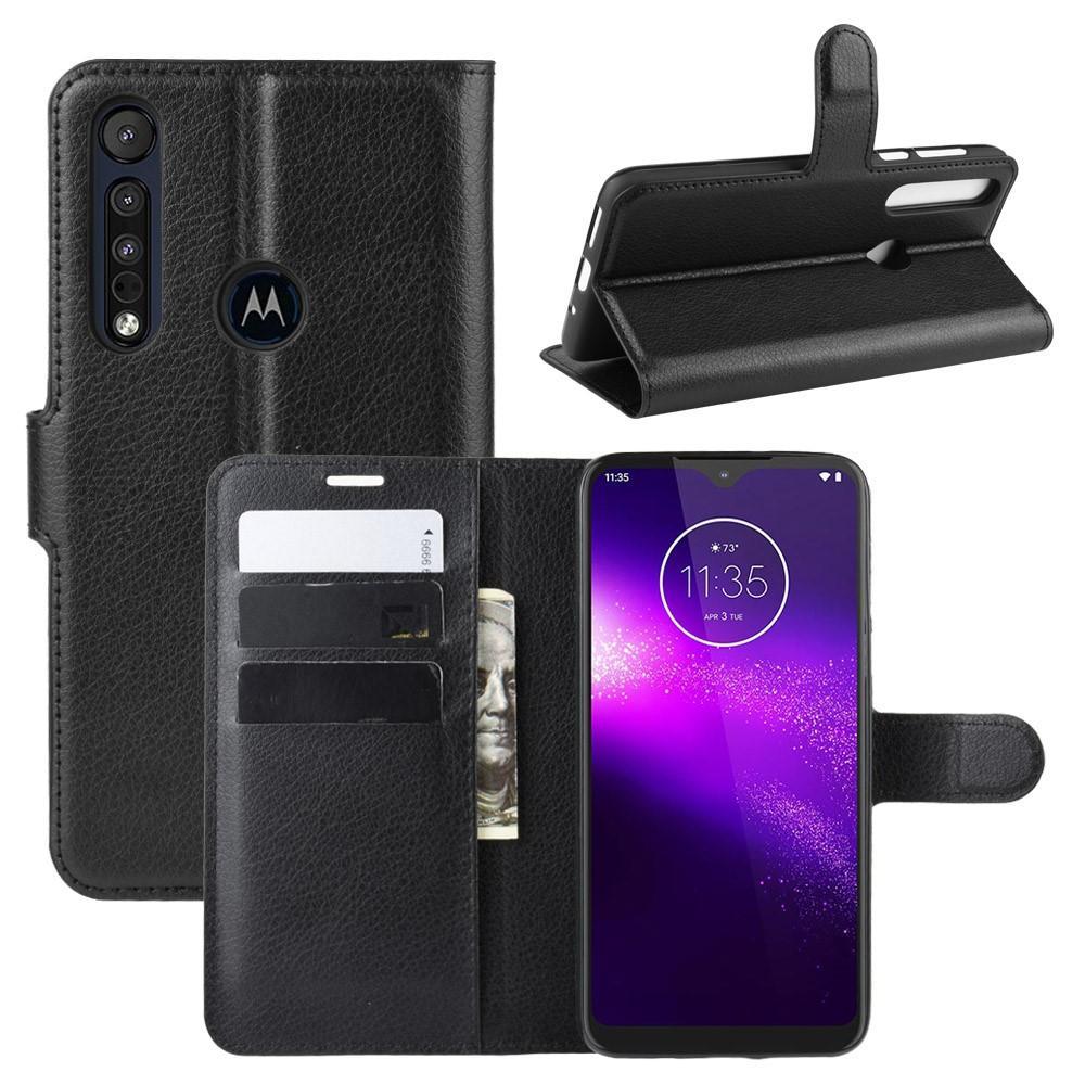 Mobilveske Motorola One Macro svart