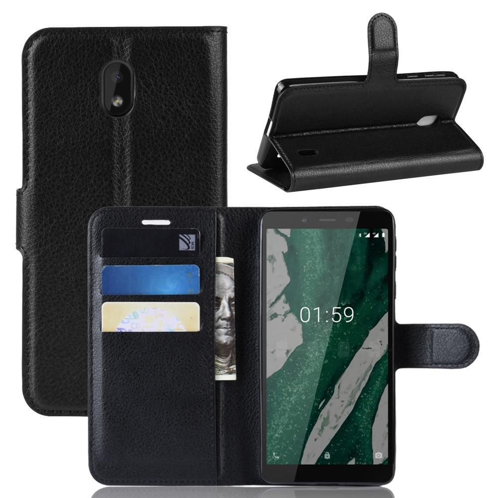 Mobilveske Nokia 1 Plus svart