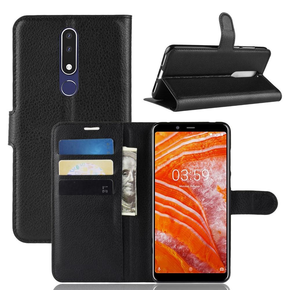 Mobilveske Nokia 3.1 Plus svart