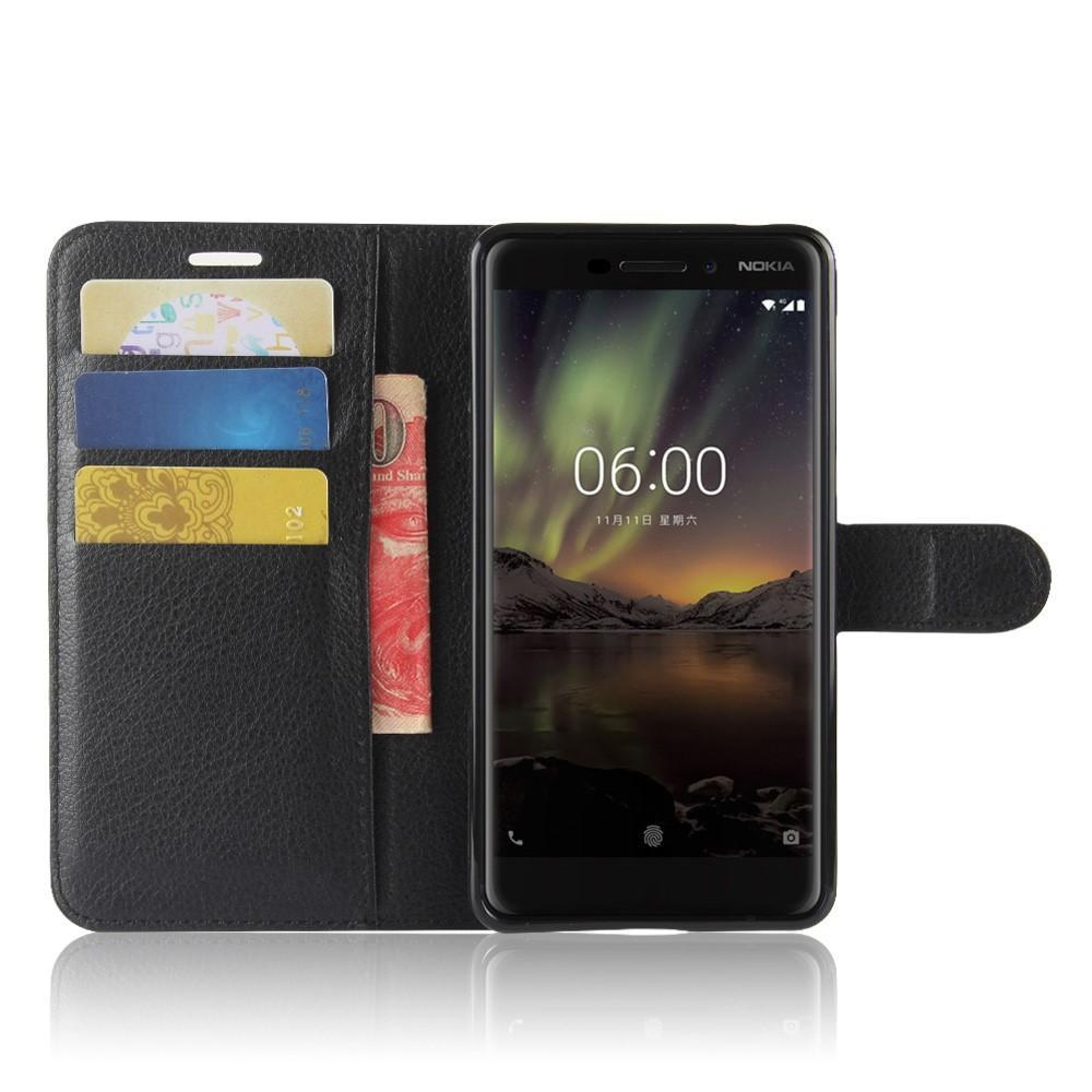 Mobilveske Nokia 6.1 2018 svart